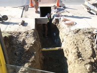 Sewer & Water Tie In, North Street